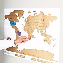Mapamundi Planisferio Raspar Marcar Scratch Map Microcentro