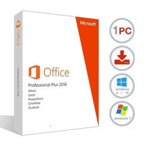Pacote Office 2016 - Key De Ativação Vitalício