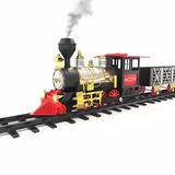 Tren Juguete Arbol Navidad Humo Real 25 Piezas Locomotora