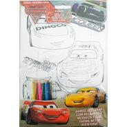 Disney Diversão Quebra-cabeça Carros + Lápis De Cor+ Colorir
