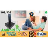 Tvbox 1gb Ram +1 Mes Canales Premium, Convertidor Smart Tv