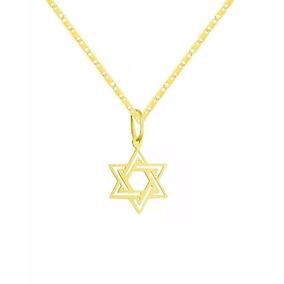 Corrente Ouro18k+ Pingente Estrela Davi 6 Pontas Viagold T08