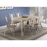 Conjunto De Mesa Carraro 1543 + 6 Cadeiras 1720 Em Aço Croma