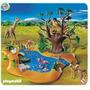 Playmobil 4827 Lago Africano Del Safari Con Animales
