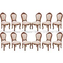 Conjunto Cadeiras P/ Jantar Luiz Xv Entalhes À Mão
