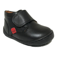 Zapato Bota Infantil Escolar Dogi E-1284 Niño Negro Piel