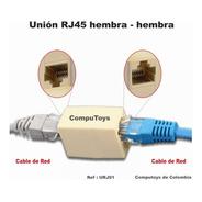 Zurj01 Union Rj45 Para Empálmar 2 Cables Utp Computoys