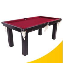 Mesa De Snooker Residencial De Madeira + Kit Completo