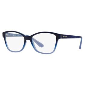 Armação Oculos Grau Vogue Vo2998 2346 54mm Azul Brilho df47b60e61