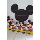 Decoraçao Festa Mickey Enfeite Mesa Painel Cabeça