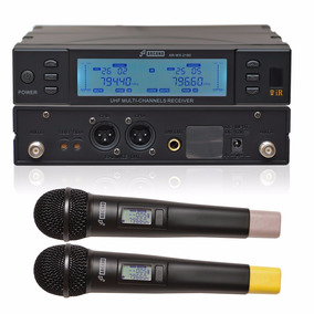 Arcano Microfone Sem Fio Duplo Uhf 2 Mics Arwx2180