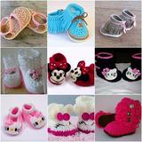 Zapatos Y Gorritos Para Bebe Tejidos A Mano