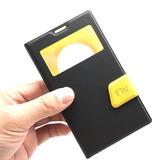 Capa Case Flip Cover Com Visor Nokia Lumia 1020 Premuim