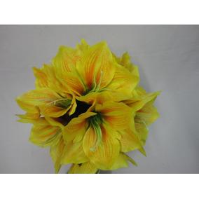 Buque Noiva Amarilis Amarelo Bouquet Permanente