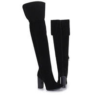 Bota Over The Knee Feminina Mixage - Preto