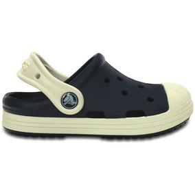 Zapato Crocs Infantil Bumper Toe Clog Azul Marino/blanco
