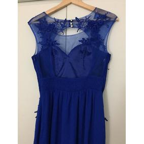 Vestido Azul De Fiesta Largo