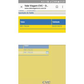 Cartão Viagem Cvc Com 1.700 Reais De Crédito.