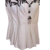 Macaquinho Tipo Vestido Bojo Rodado Rendado Panicat Moda