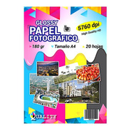 6 Packs De Papel Fotográfico Brillante 20 Hojas 180 Gr