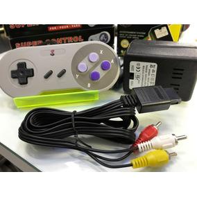 Kit Completo Super Nintendo Cabo Av Controle E Fonte Bivolte