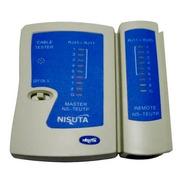 Tester De Red Rj45 Rj11 Nisuta Redes Cable Utp Con Funda