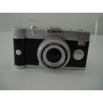 Cofre Maquina Fotografica Camera Porta Moedas Decoração