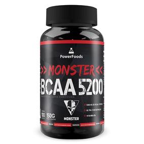 Monster Bcaa 5200 - 300 Cápsulas - Powerfoods