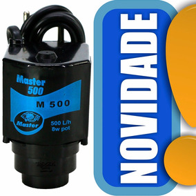 Bomba Submersa Master 500 L/h 110v Aquários Lagos E Fontes