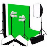 Set Fotografico Estudio Softbox 12 Focos Super Iluminacion