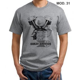 Kit 4 Camisas Harley Davidson Camiseta Caveira Motociclista