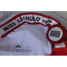 Faixa De Miss Personalizada Com Brasão Da Cidade