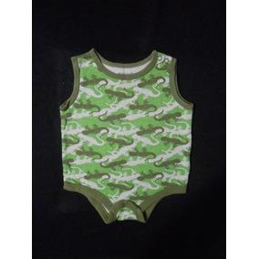 Garanimals Pañalero Verde Camuflaje Con Lagartijas 3-6 Meses
