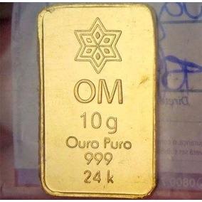 Barra Ouro Puro 24k - 999 -10g Com Certificado De Pureza