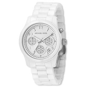 3e6375b6643f4 Relógio Michael Kors Mk5387 Branco Cerâmica Promoção Natal ...