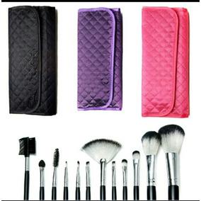 10x Kit 12 Pincéis Pincel Macrilan Maquiagem Atacado = Mac