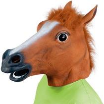 Máscara Cara De Cavalo Látex Cosplay Manequim Challenge