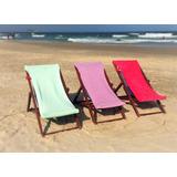 Capa De Cadeira De Praia Em Tecido Atoalhado