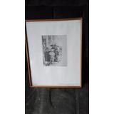 Copia Antigua De Una Reproduccion ( Grabado ) De Rembrandt