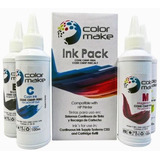 Tinta Epson L200,l210,l220,l355,l365,l555 Pack 4 Color Make