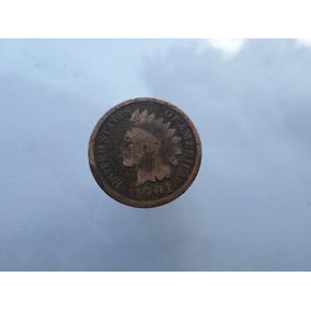 Moneda Antigua 1 Centavo 1901 Indio Envio Rapido Gratis!!!