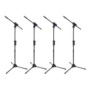 Pedestal Suporte Para Microfone Ibox Estante Girafa Kit 4