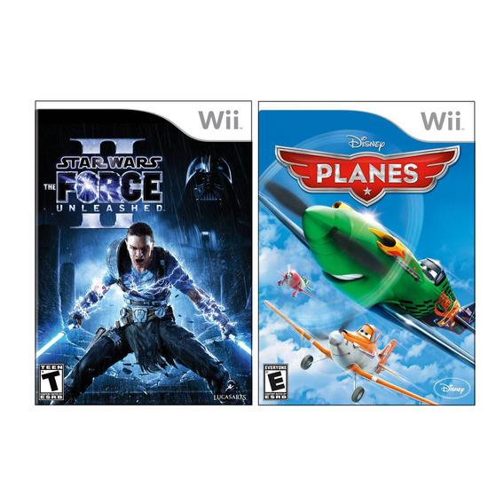 2 Juegos Nintendo Wii: Star Wars Force Unleashed Ii + Planes