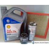 Filtro Aceite + Aire + Comb. + 4 Lt Aceite Vw Gol Trend
