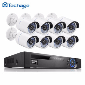 Kit Nvr 8 Câmeras Full Hd 1080p Ir Poe P2p 2.0mp