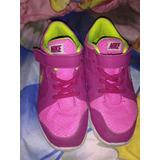 Zapatos, Gomas Nike Fucsia De Niña Original 100% Talla 33.5