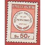 !!estampilla Registro Nacional De Las Personas Ley 17671 !!