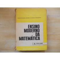 Livro Ensino Moderno Da Matemática - Volume 2 Com Exercícios