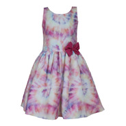 Vestido Infantil Tie Dye Tai Day Menina Tam 6 Ao 12 Juvenil