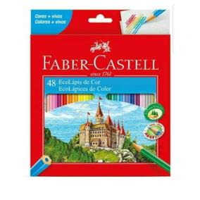 3 Cxs. Lápis De Cor Faber-castell De 48 Cores Com Apontador